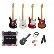 Kit Guitarra Tagima TG530 Strato Amplificador Borne G30 LONDON e Acessórios