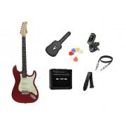 Kit Guitarra Tagima Woodstock TG500 CA Strato  G30 Preto