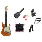Kit Guitarra Tagima Woodstock TG500 MGY Strato  G30 London