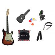 Kit Guitarra Tagima Woodstock TG500 SB Strato  G30 London
