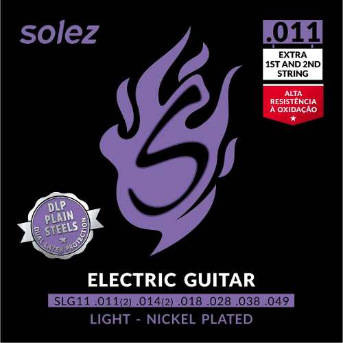 Encordoamento para Guitarra Solez 011