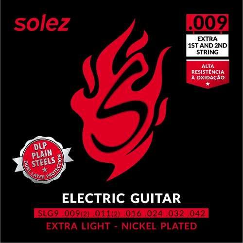 Encordoamento para Guitarra Solez 009