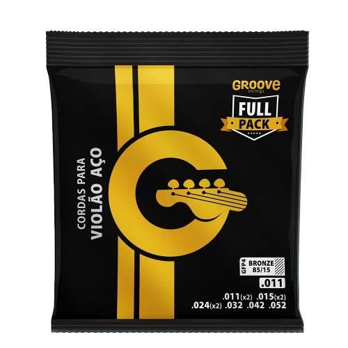 Encordoamento Groove GFP4 Violão Aço Bronze 011
