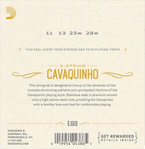 Encordoamento Daddario EJ93 para Cavaquinho