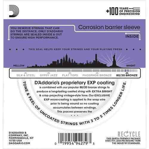 Encordoamento Daddario Violão Aço EXP13  011-052
