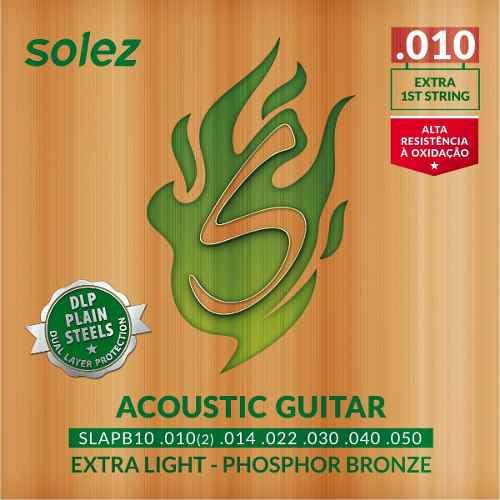 Encordoamento Solez Violão Aço Phospor Bronze 010