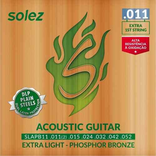 Encordoamento Solez Violão Aço Phospor Bronze 011