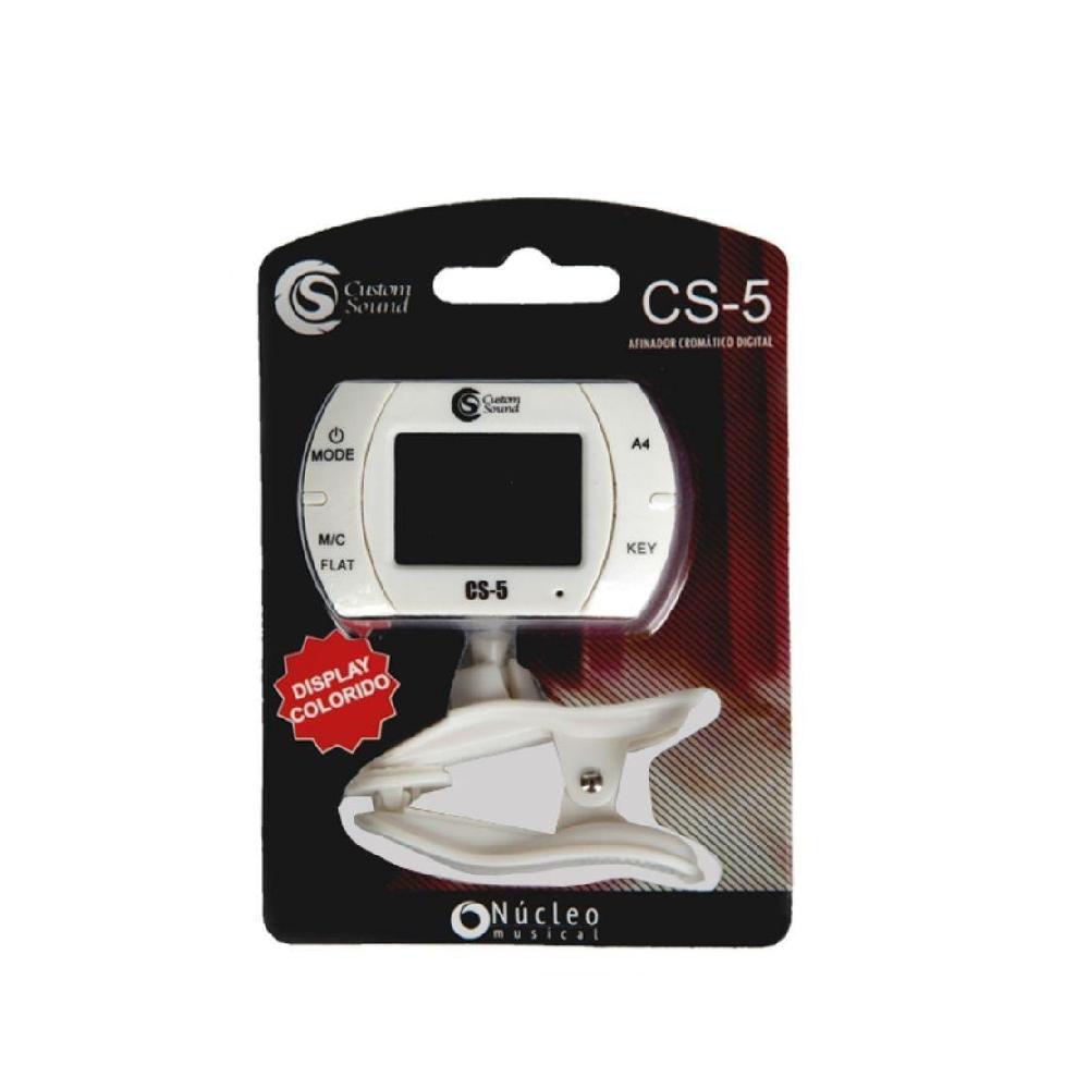 Afinador Digital de Clipe com Microfone Custom Sound CS-5