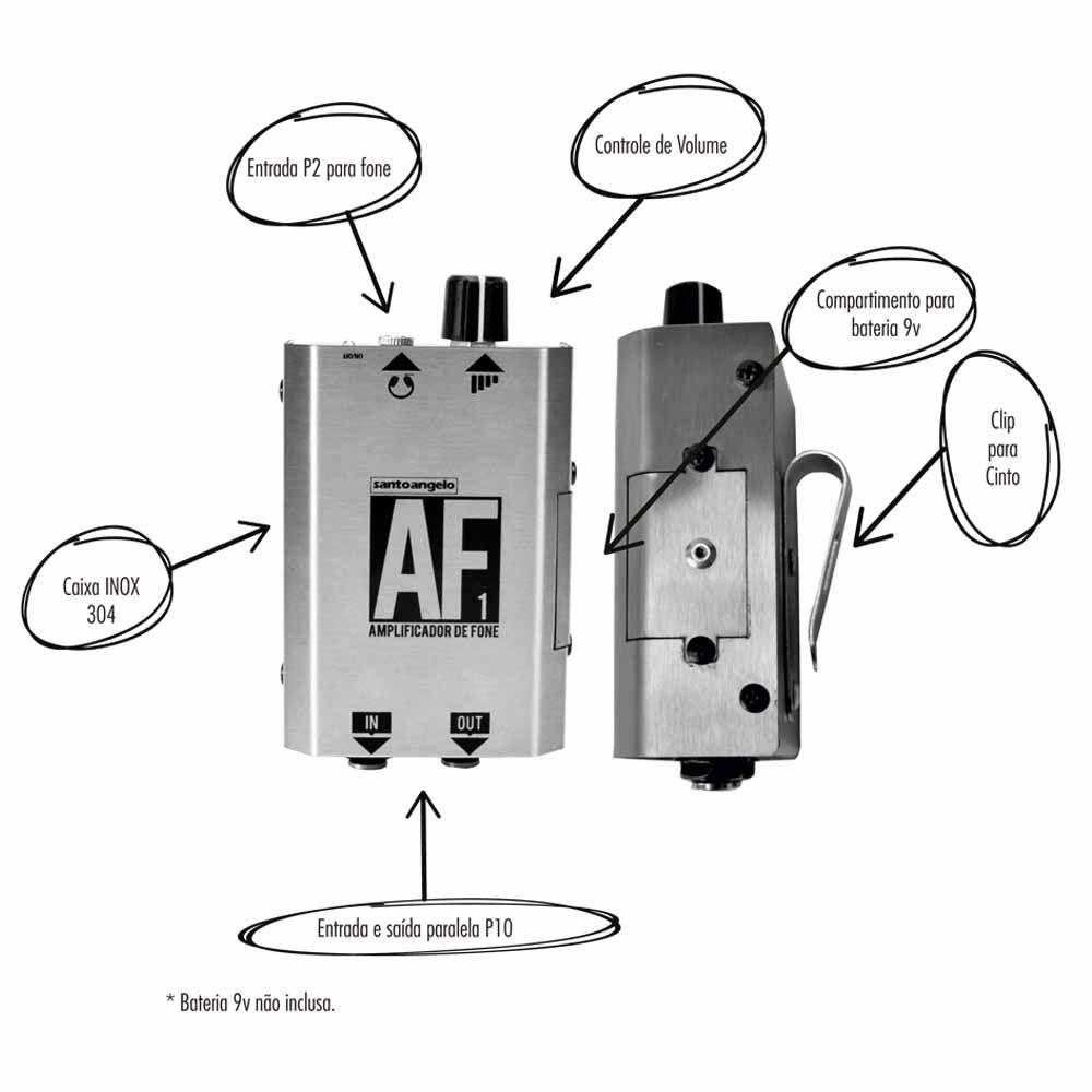Amplificador de Fones  Santo Angelo AF1