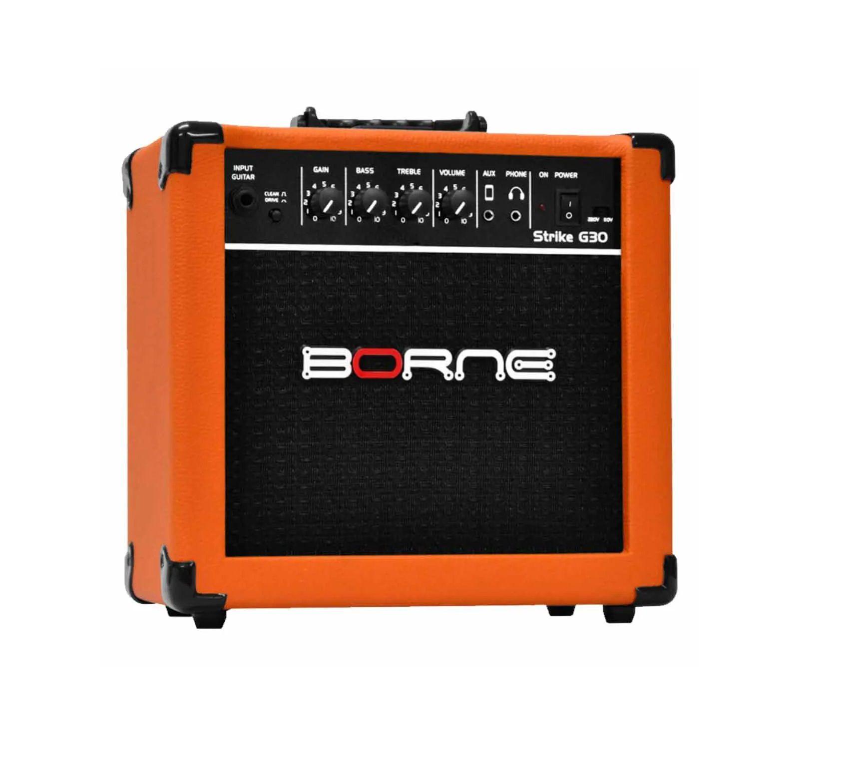 Amplificador Borne para Guitarra G30 Laranja