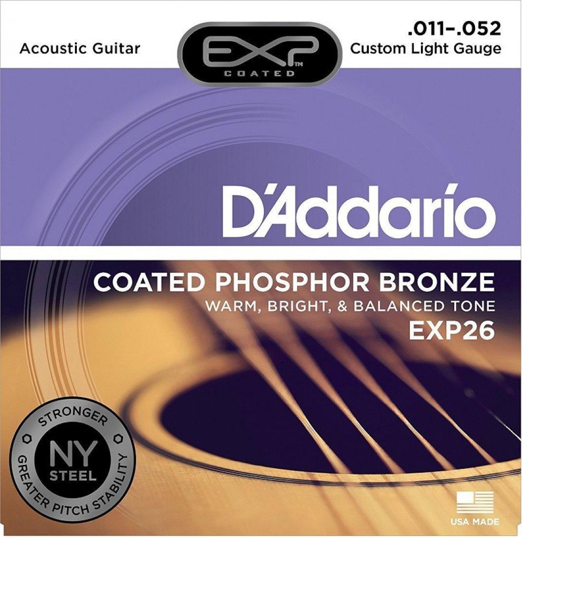 Encordoamento Daddario Violão Aço EXP26 011-052