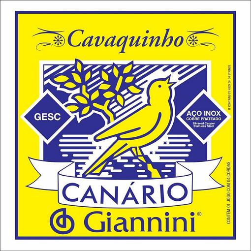 Encordoamento Giannini Canário GESC para Cavaquinho