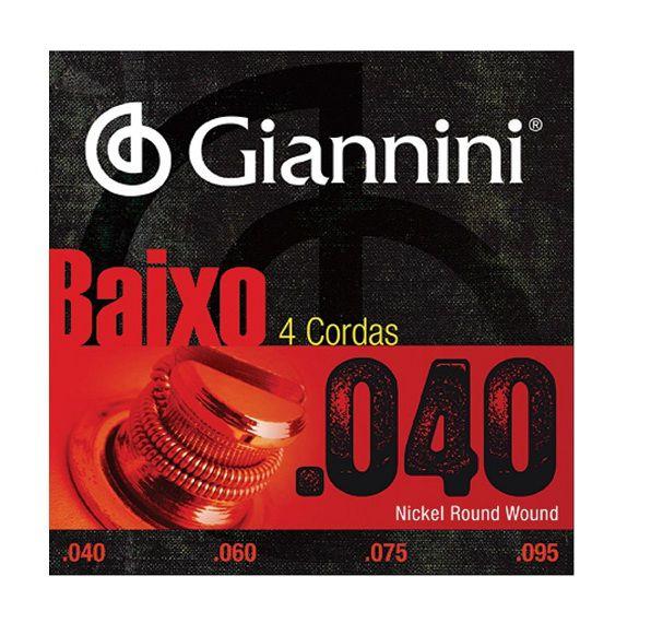 Encordoamento Giannini Para Contra Baixo 4 Cordas 040