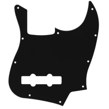 Escudo Dolphin Preto para Baixo Jazz Bass