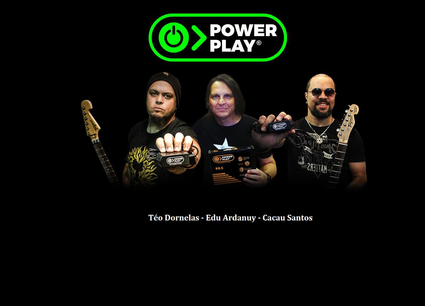 Fonte Power Play Five Power Para 5 Pedais , 1000mA