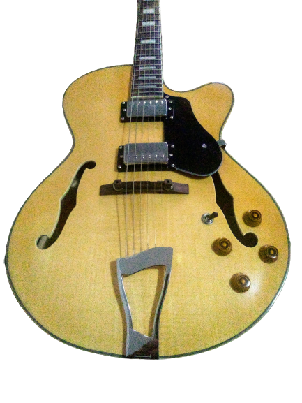 Guitarra Tagima Acústica Hollow Body Archtop com Case Jazz 1900 NA