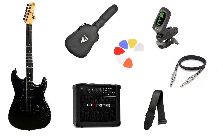 Kit Guitarra Tagima Woodstock TG500 BK Strato  G30 Preto