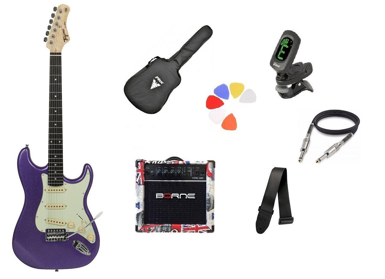 Kit Guitarra Tagima Woodstock TG500 MPP Strato  G30 London