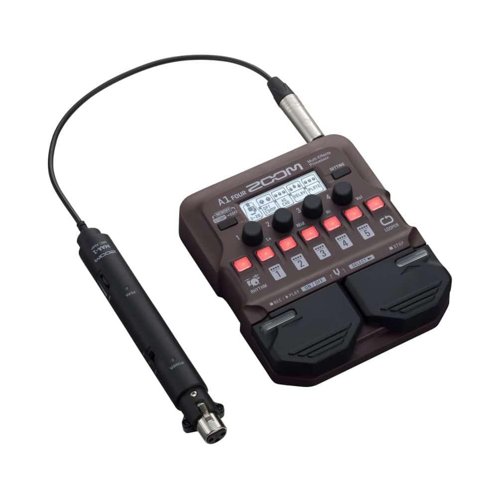 Pedaleira para Violão e Instrumentos Acústicos ZOOM A1 Four
