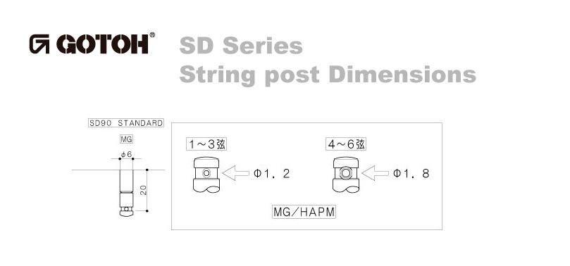 Tarraxa Gotoh com Trava SD90MG Níquel 3+3