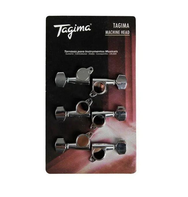 Tarraxa Tagima Tmh 807 Cr Para Guitarra 6 em Linha