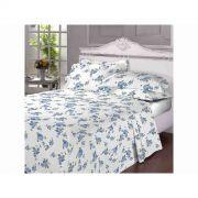 Jogo de cama Queen Size 180 Fios Blue Garden