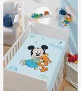 Manta Infantil Mickey com Ursinho