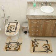 Jogo de Banheiro 3 pçs Veludo