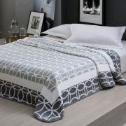 Cobertor Home Design Aveludado Marvin Cinza Casal 180 x 220