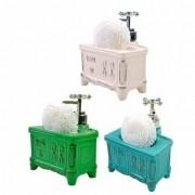 Porta Sabonete Liquido Retro Gabinete em Porcelana