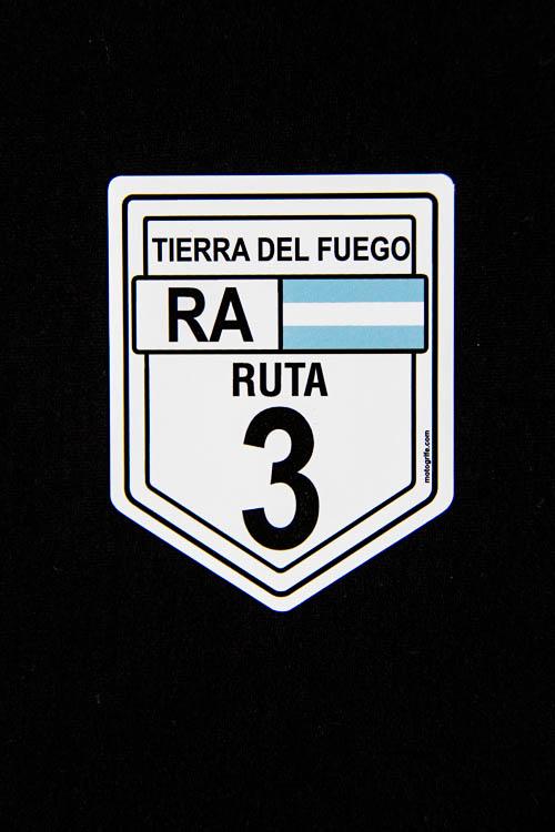 Adesivo Vinil Verniz Argentina Ruta 3 - Pacote com 3 Unidades