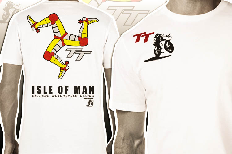 Camiseta Isle Of Man TT - Branco Gelo