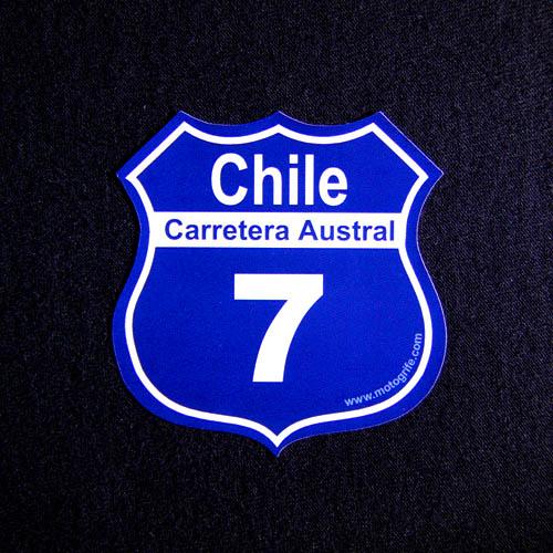 Adesivo Vinil Verniz Chile Carretera Austral 7 - Kit com 3 unidades