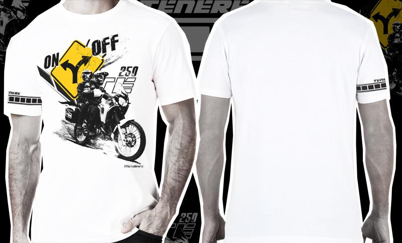 Camiseta Ténéré 250 ON OFF - Branca