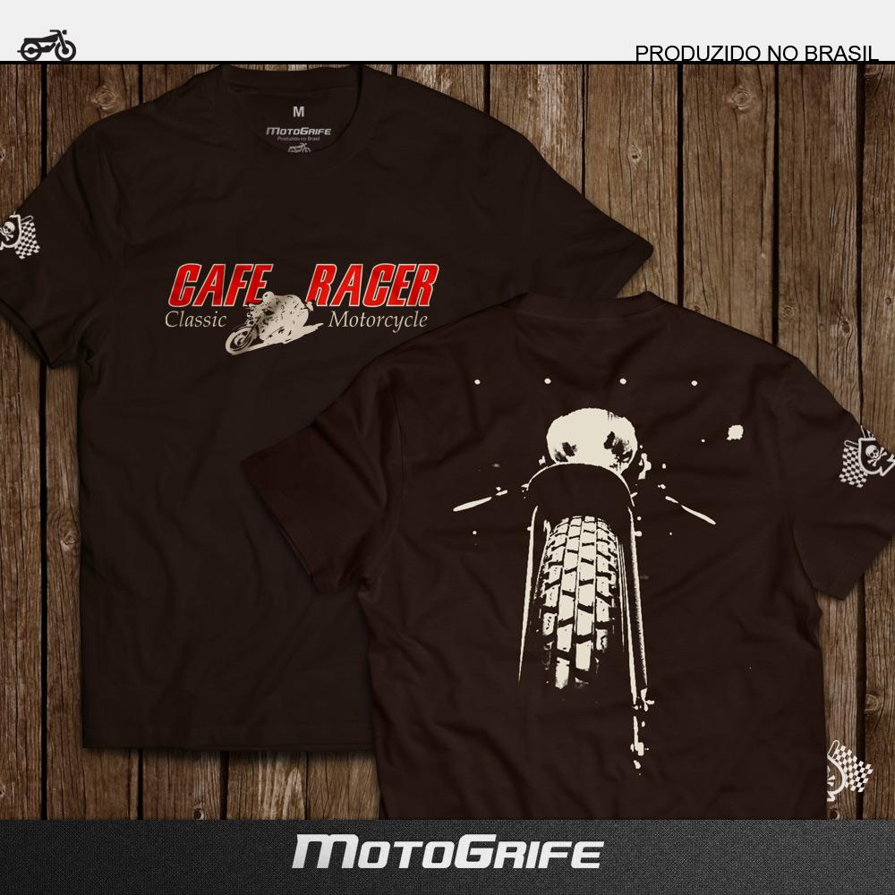 Camiseta Café Racer - Marrom