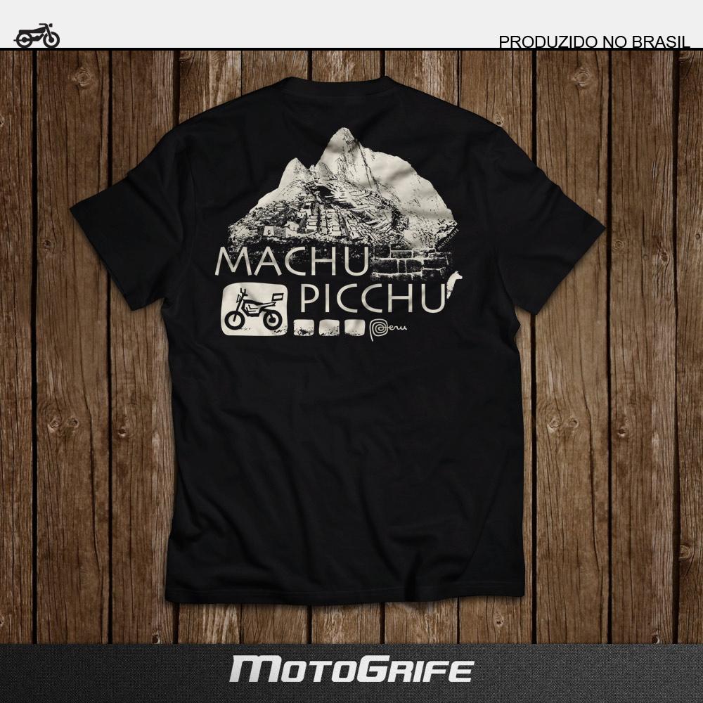 Camiseta Machu Picchu - Preta