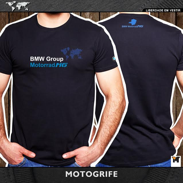PRÉ VENDA Camiseta BMW MG Motorrad Masculina - Preta