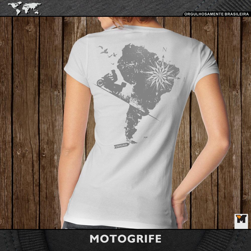 Camiseta Ushuaia feminina - cor cinza
