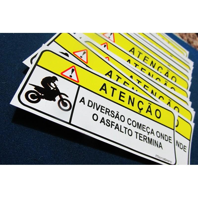 Adesivos em Vinil Verniz Fora de Estrada - Kit com 4 unidades