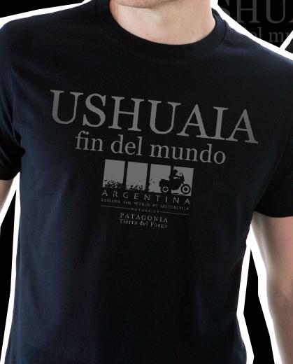 Camiseta Ushuaia Fin Del Mundo - Preta