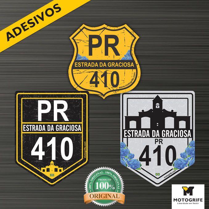 Adesivo Vinil Verniz Estrada da Graciosa BR 410 - kit com 3 modelos - frete grátis