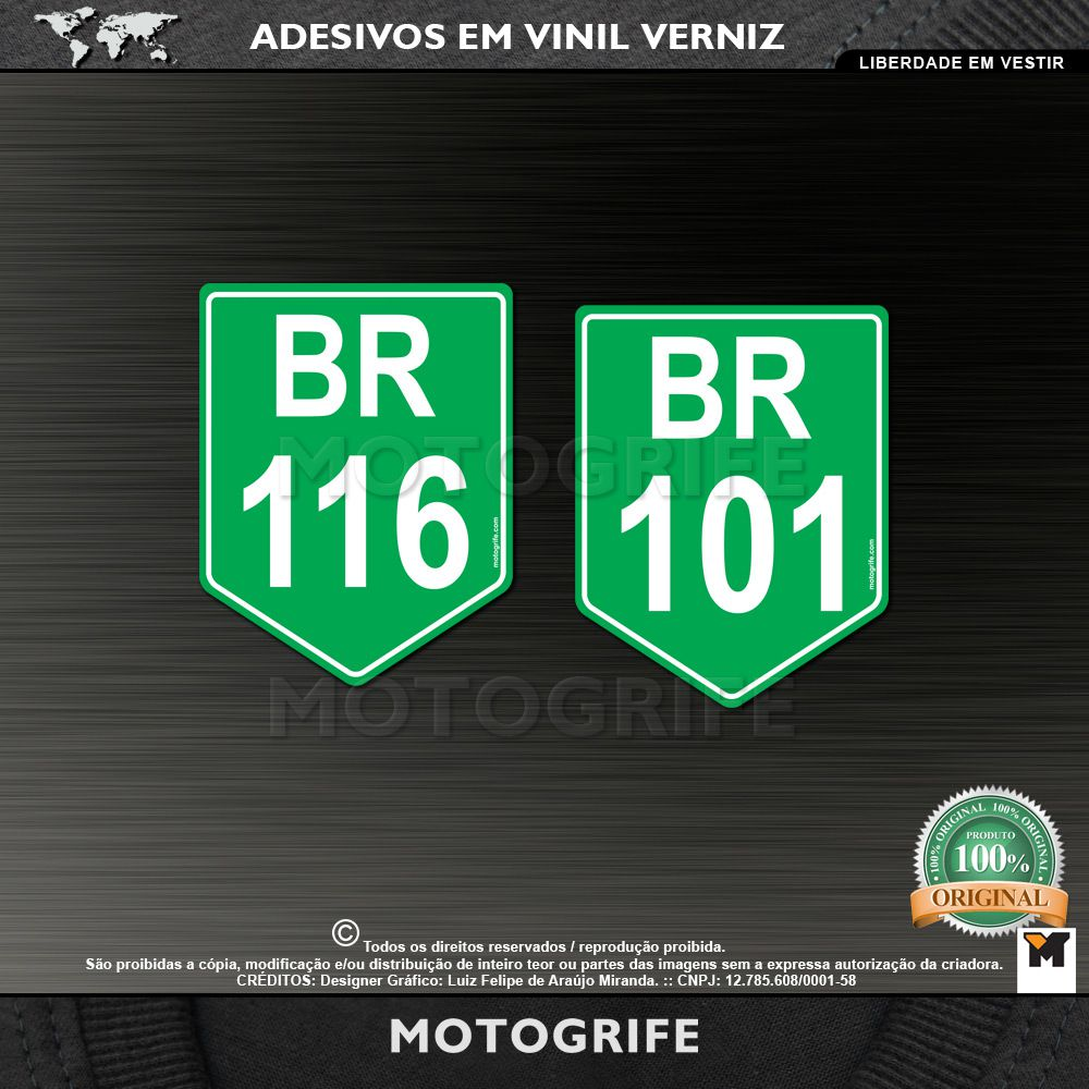 Adesivos BR116 e BR101