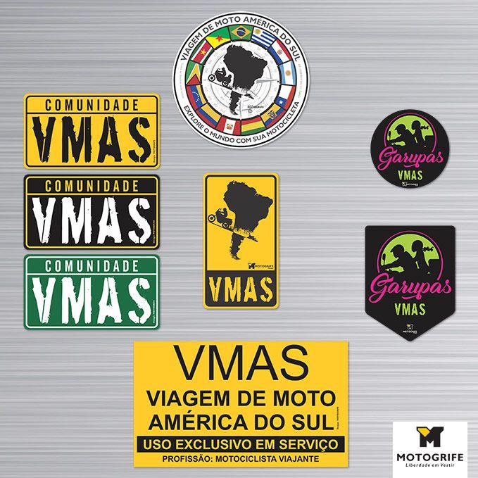 Adesivos Comunidade VMAS Kit 8 Unidades