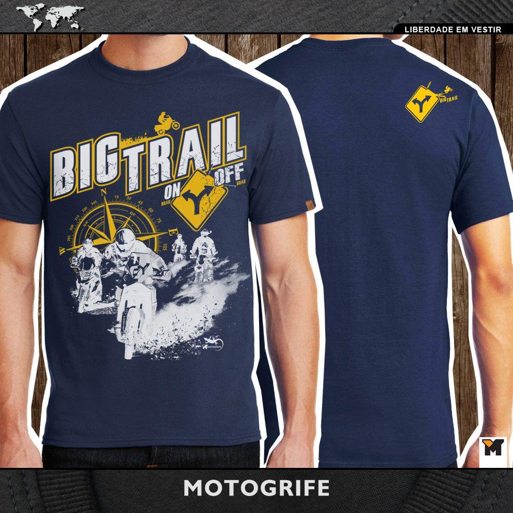 Bigtrail On Off camiseta manga curta azul escuro