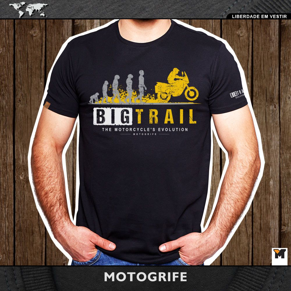 Camiseta Big Trail Evolution - Preta