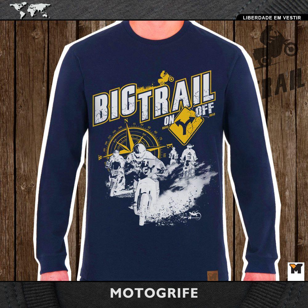 Bigtrail On Off camiseta manga longa azul escuro
