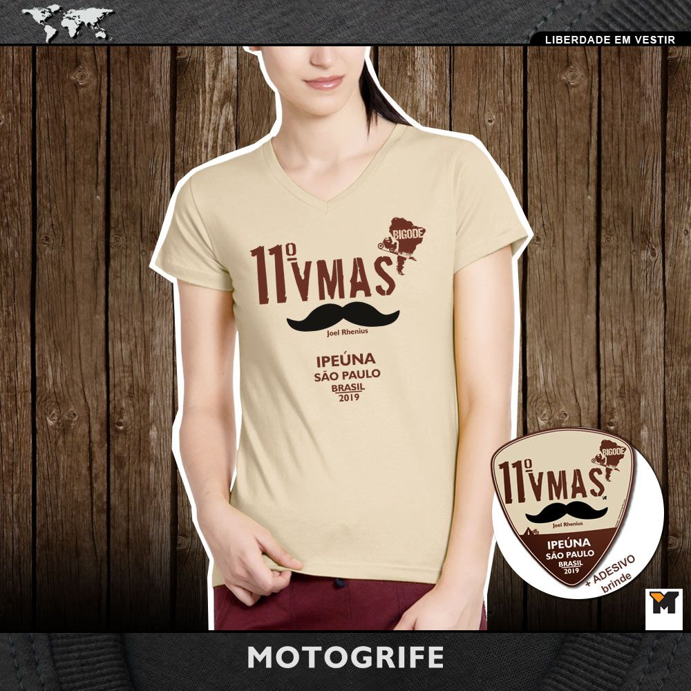 Camiseta feminina 11 VMAS - RETIRADA EM IPEUNA