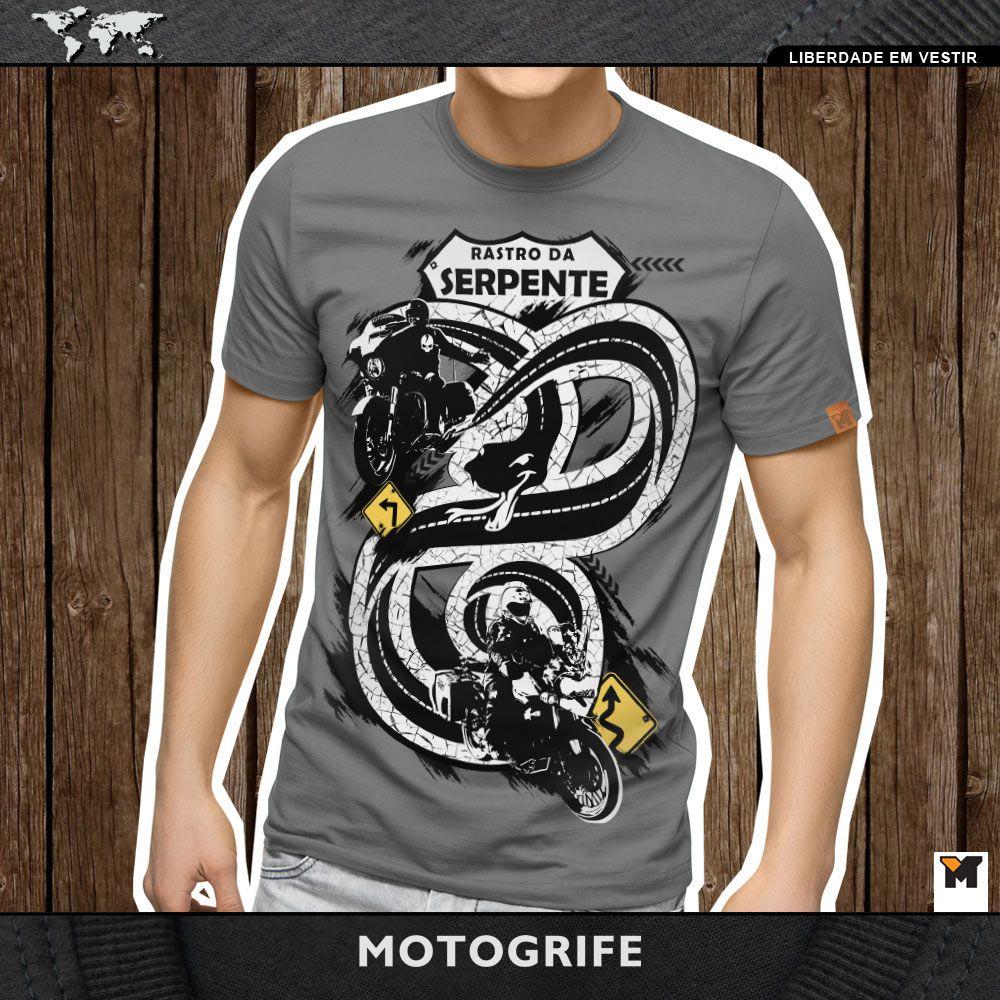 Camiseta Rastro da Serpente cinza estonada