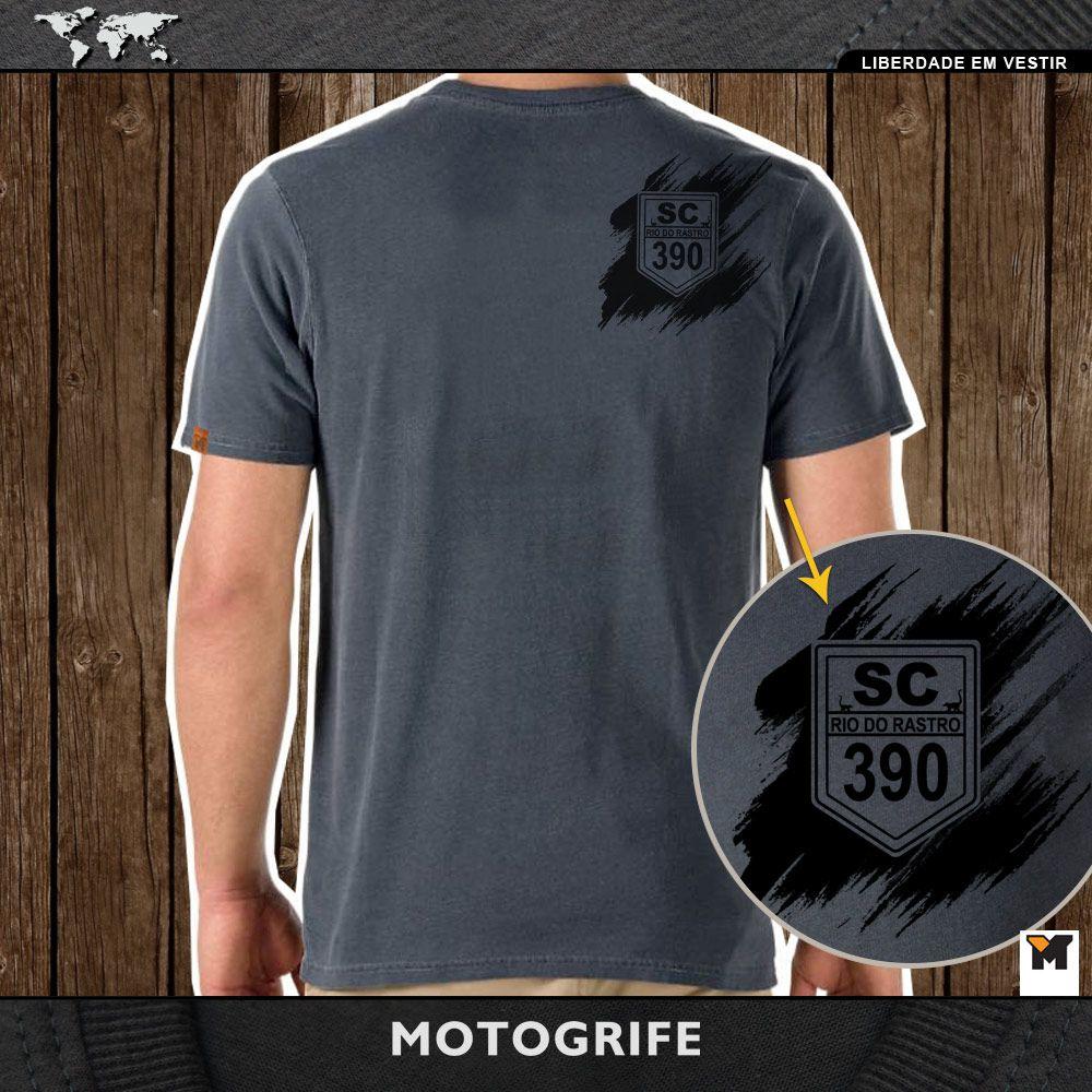 Camiseta Serra do Rio do Rastro cinza chumbo estonada