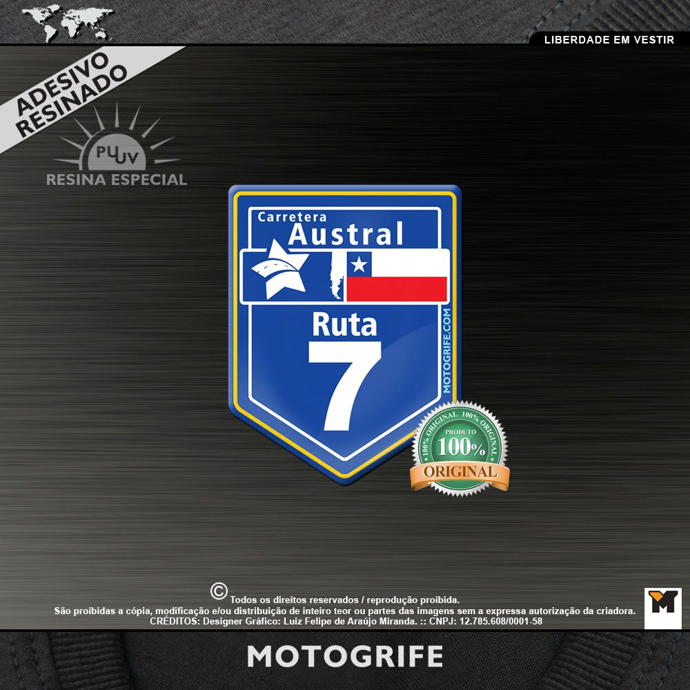 Carretera Austral Adesivo Resinado PU